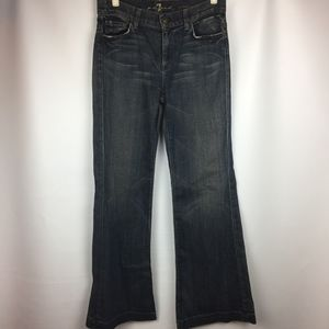 7 For All Mankind Ginger jean Brown wash Wide Leg